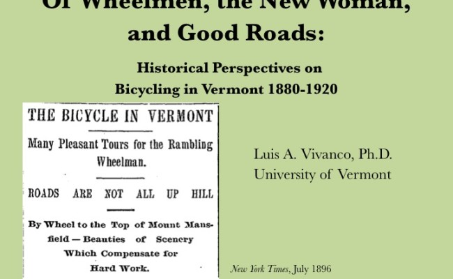 Bicycling in Vermont: 1880-1920