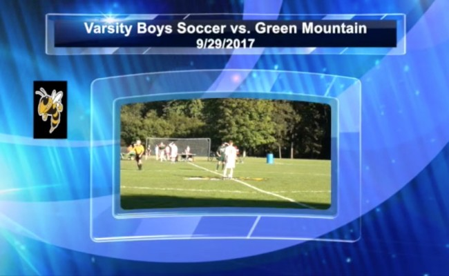 Boys Varsity Soccer vs. Green Mountain 9/29/17