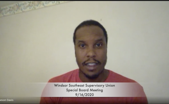 Windsor SE Supervisory Union Special Board Meeting 9/16/2020