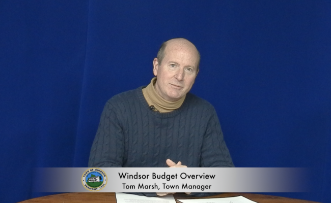 Windsor Municipal Budget Overview with Tom Marsh