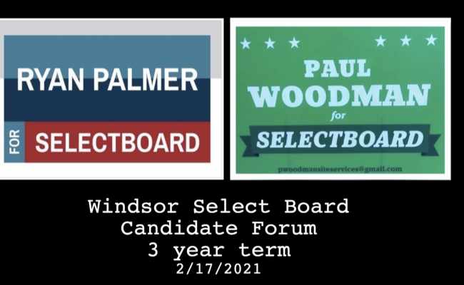 Windsor Select Board Candidate Forum: 3 Year Seat